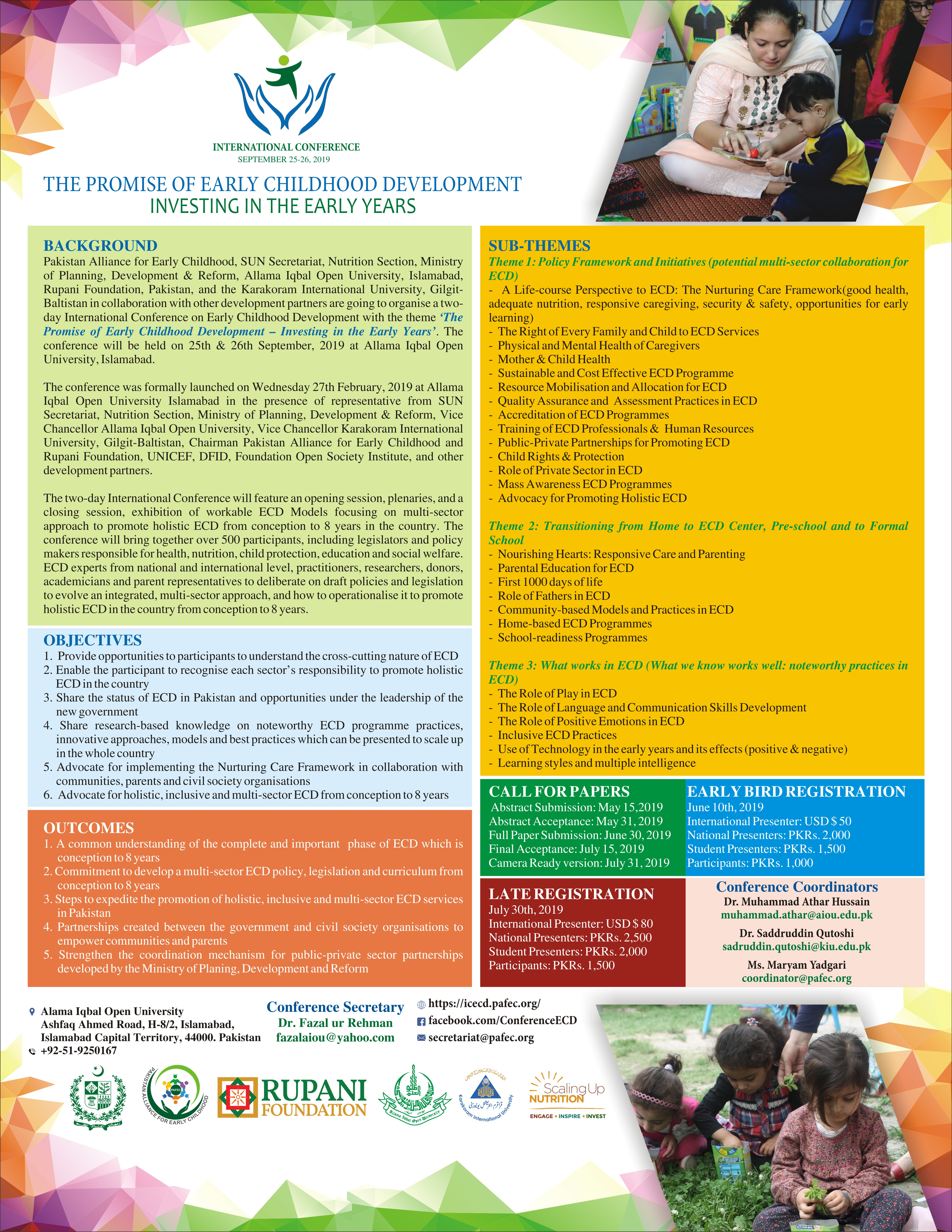 Revises Brochure of International Conference on Early