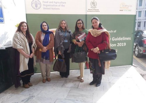 Dissemination and Launching of Pakistan Dietary Guidelines for Better Nutrition 2019 & e-Learning Course