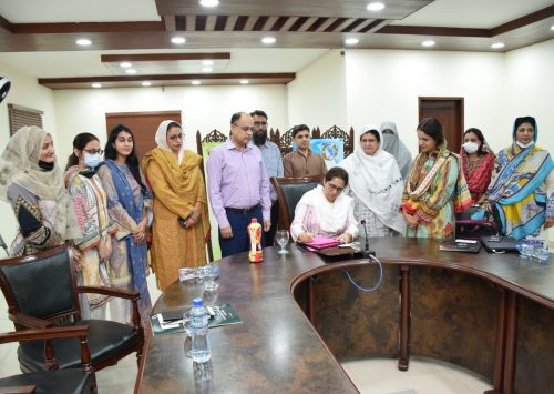 PAFEC Signs an MoU with Lahore College for Women University